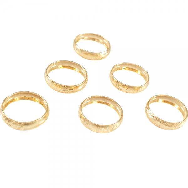 Inel tip verigheta placat cu aur SaraTremo 0