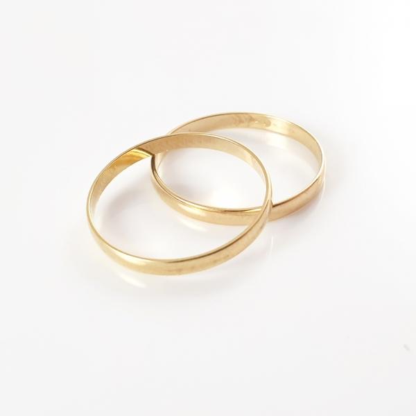 Inel tip verigheta placat cu aur SaraTremo 5