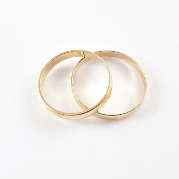Inel tip verigheta placat cu aur SaraTremo [4]