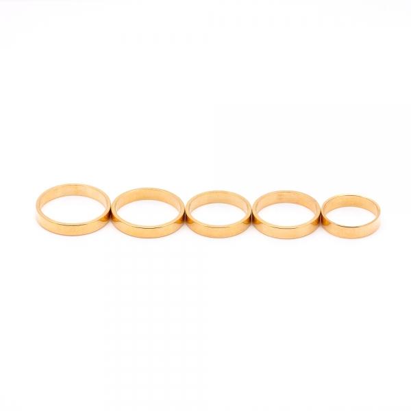 Inel tip verigheta placat cu aur 18 K My Precious 2