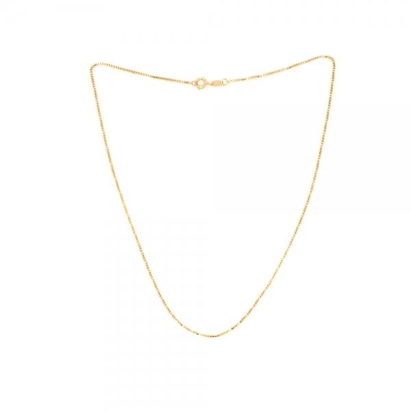 Lantisor cubic placat cu aur SaraTremo [0]