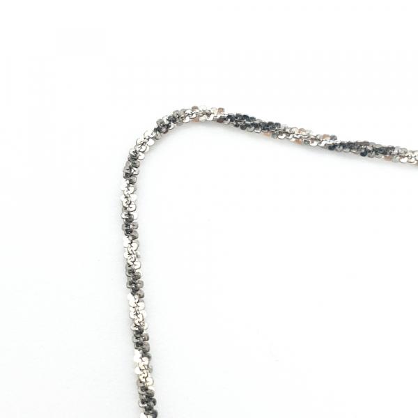 Lantisor argint impletit cu rodiu SaraTremo 2