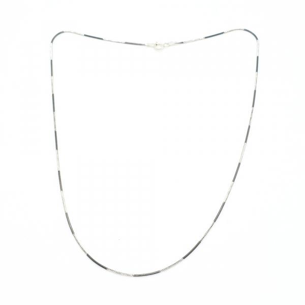Lantisor 45 cm din argint impletit cu rodiu N-Joy