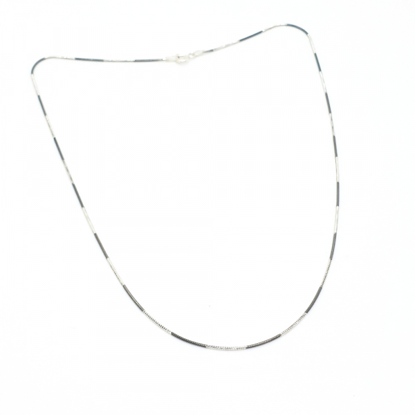 Lantisor argint impletit cu rodiu SaraTremo 4