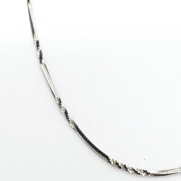 Lantisor argint impletit cu rodiu SaraTremo [1]