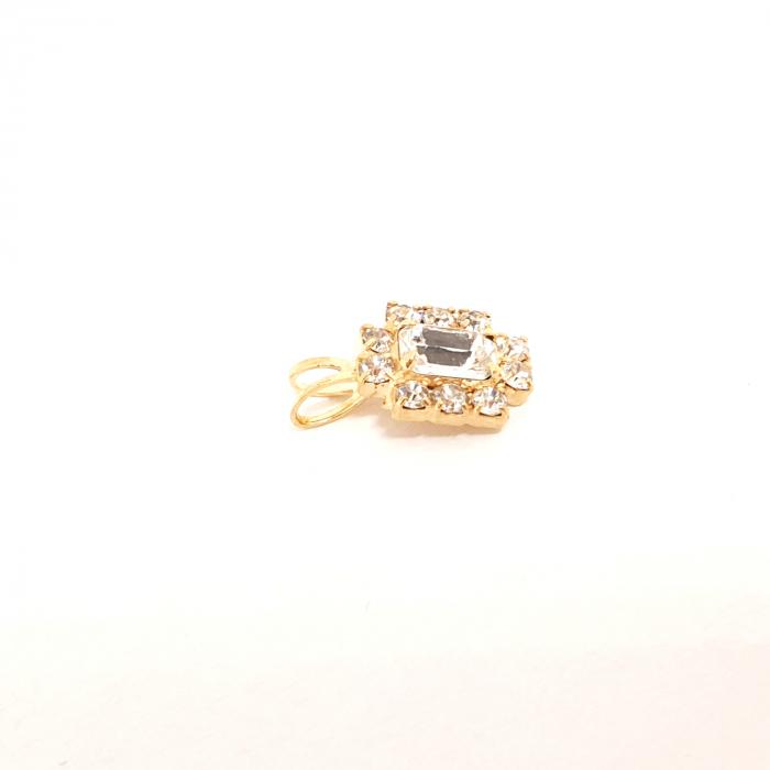 Pandantiv cu cristal zirconia placat cu aur Praddas 1
