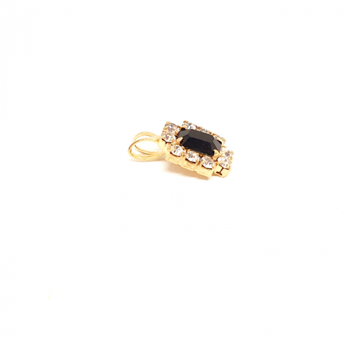 Pandantiv cu cristal zirconia placat cu aur Re-Belle 1
