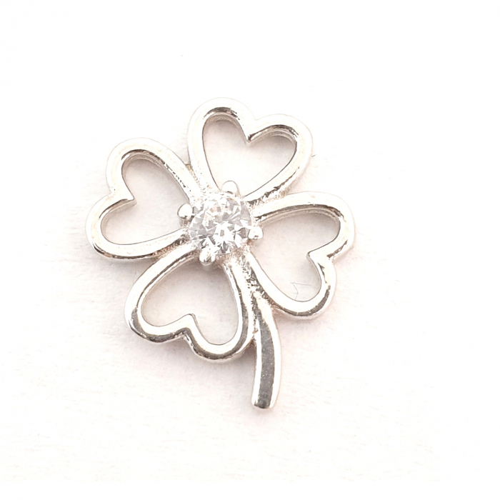 Pandantiv din argint rodiat White Flower 0