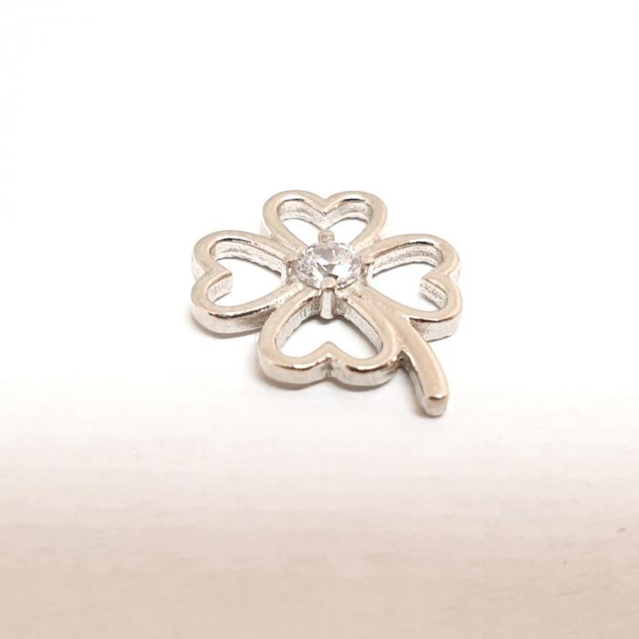 Pandantiv din argint rodiat White Flower 1
