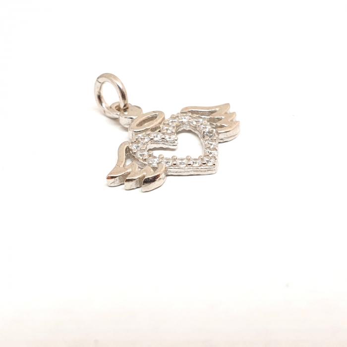 Pandantiv din argint rodiat Cupidon 1