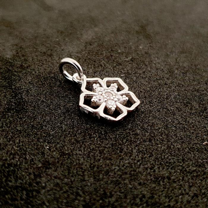 Pandantiv din argint rodiat Cubiq Flower 1