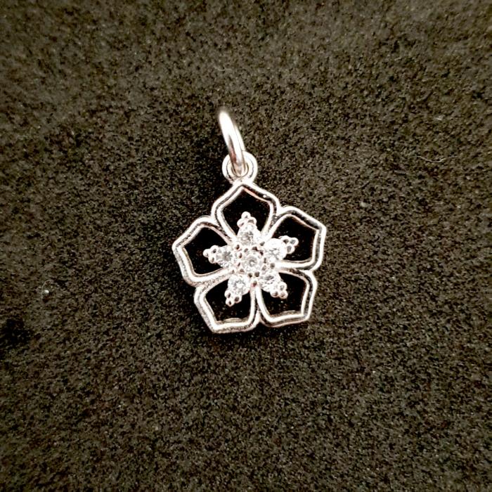 Pandantiv din argint rodiat Cubiq Flower 0