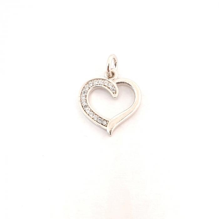 Pandantiv din argint rodiat Shape of My Heart 0