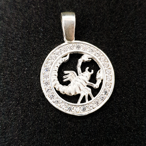 Pandantiv din argint cu zodia Scorpion 0