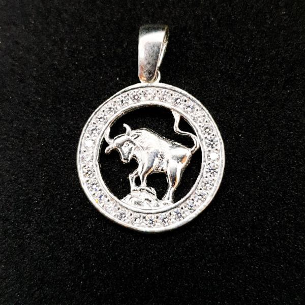 Pandantiv din argint cu zodia Taur 0
