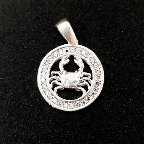 Pandantiv din argint cu zodia Rac 0