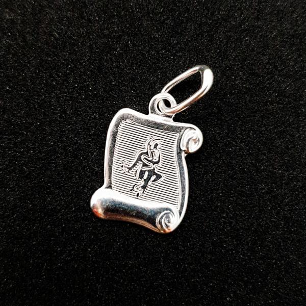 Pandantiv din argint cu zodia Fecioara 0