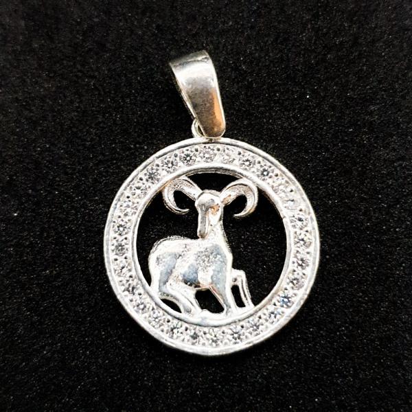 Pandantiv din argint cu zodia Berbec 0