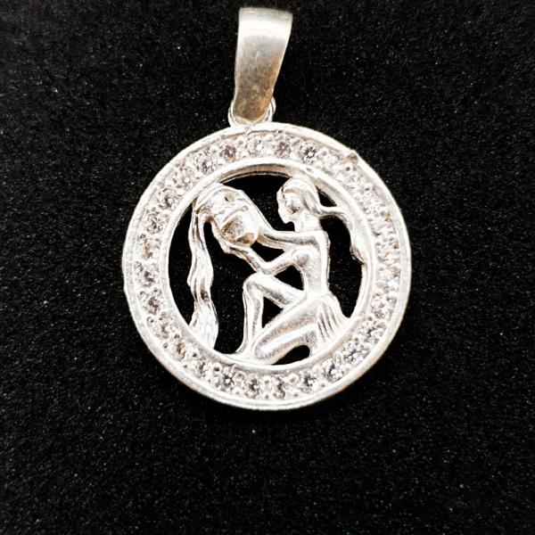Pandantiv din argint cu zodia Varsator 0