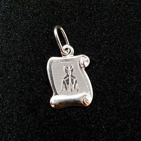 Pandantiv din argint cu zodia Gemeni 0