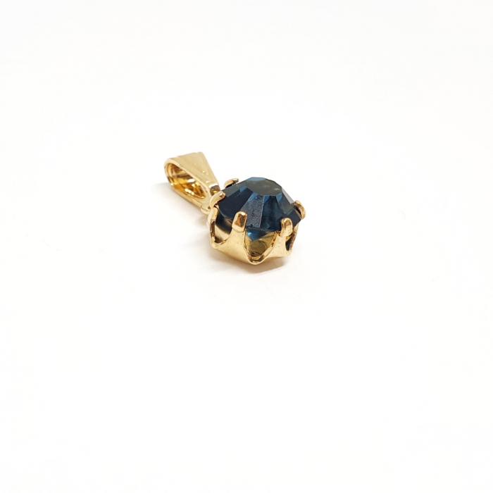 Pandantiv rotund negru placat cu aur Camma [1]