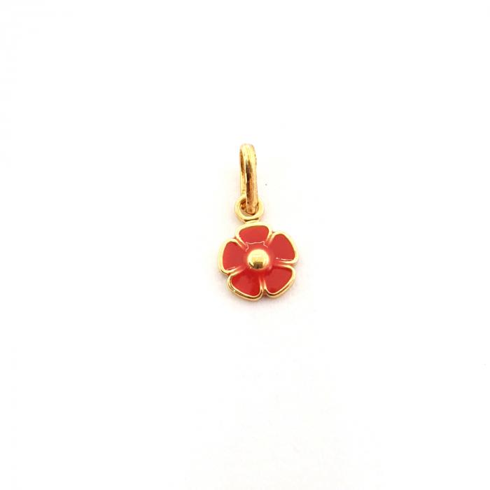 Pandantiv-floare placat cu aur Miss Petra [0]