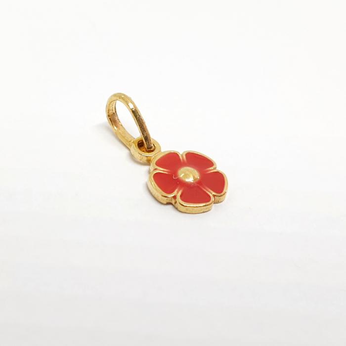 Pandantiv-floare placat cu aur Miss Petra [1]