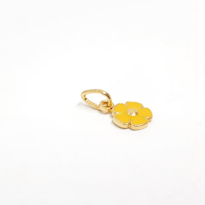 Pandantiv-floare placat cu aur Miss Addie [1]