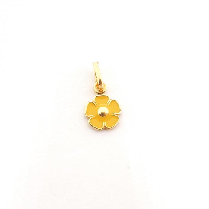 Pandantiv-floare placat cu aur Miss Addie [0]