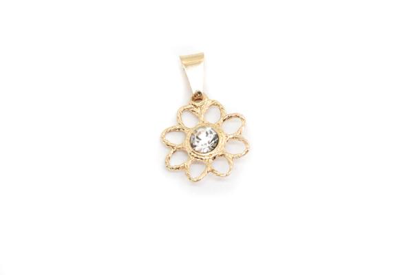 Pandantiv in forma de floare placat cu aur SaraTremo 0