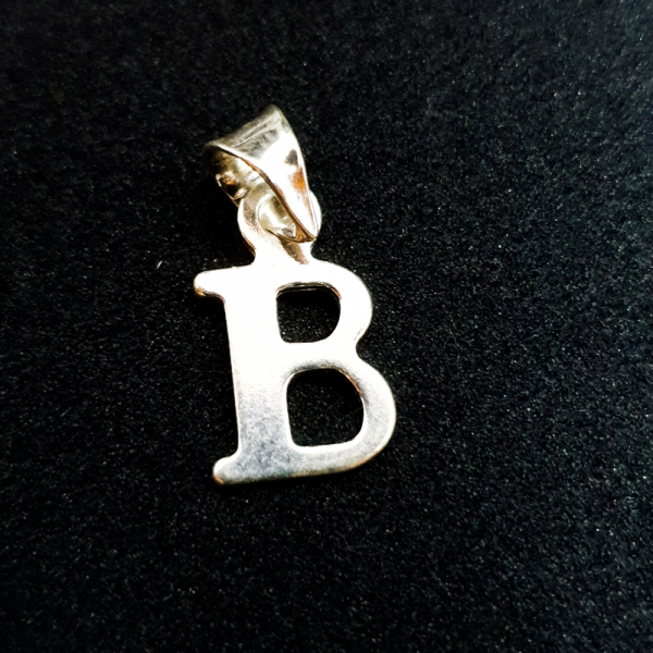Pandantiv litera B din argint SaraTremo 0