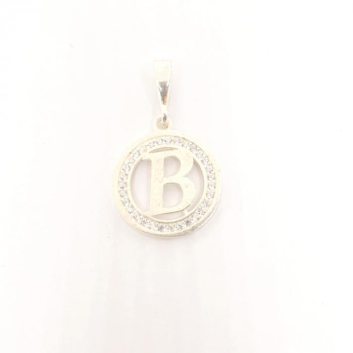 Pandantiv litera B din argint SaraTremo [1]