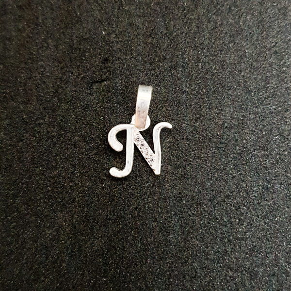 Pandantiv Litera N din argint