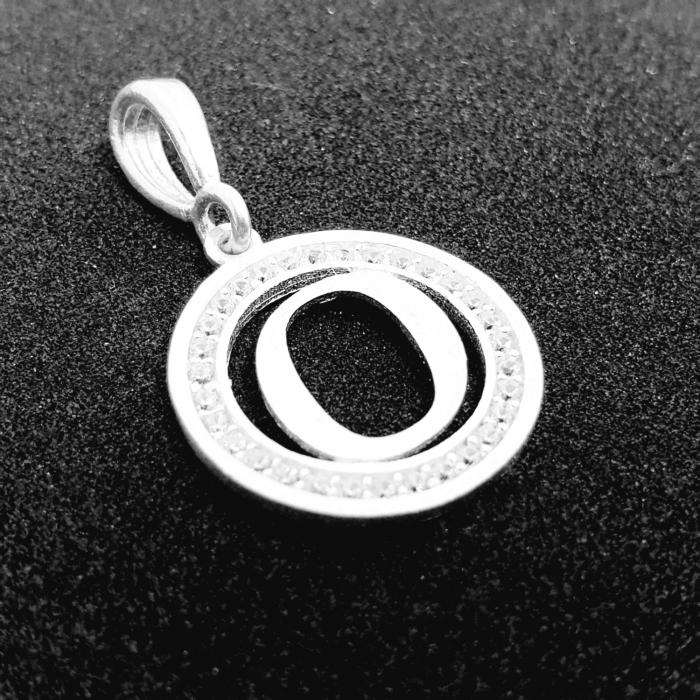 Pandantiv litera O din argint SaraTremo [1]