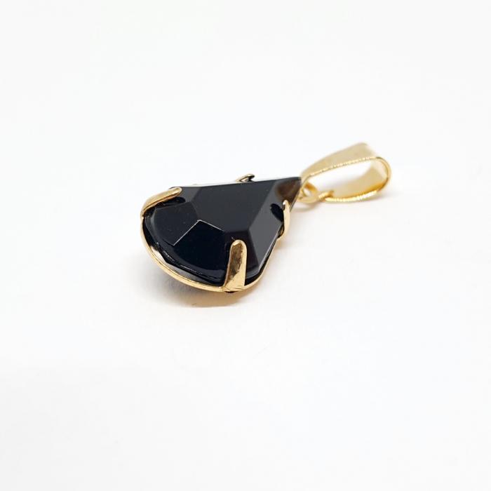 Pandantiv negru-abanos placat cu aur Olivia [1]