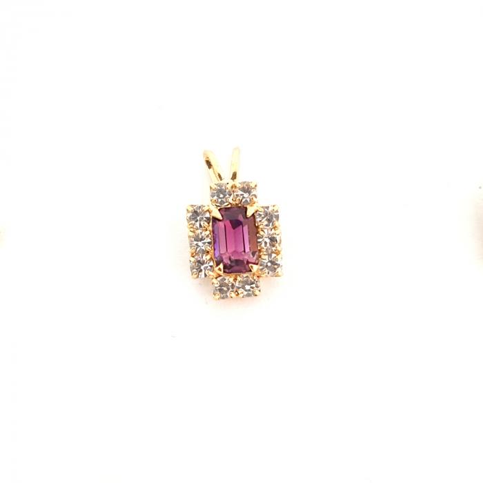 Pandantiv cu cristal zirconia placat cu aur Waterfall [0]