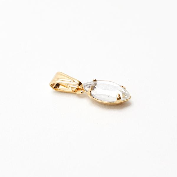 Pandantiv oval placat cu aur SaraTremo 1