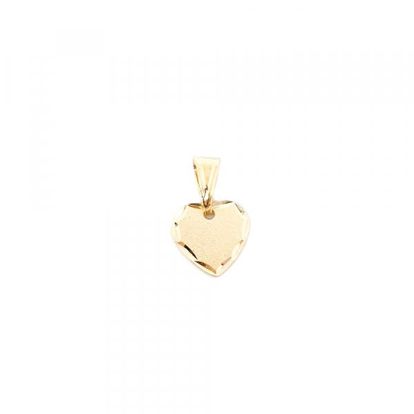 Pandantiv in forma de inima placat cu aur SaraTremo [0]