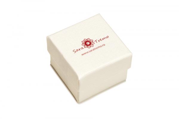 Pandantiv oval rosu placat cu aur SaraTremo 2