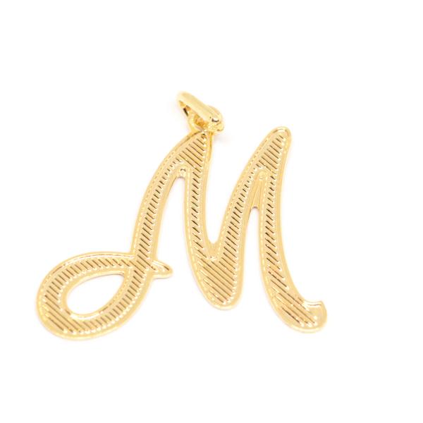 Pandantiv M placat cu aur SaraTremo 0