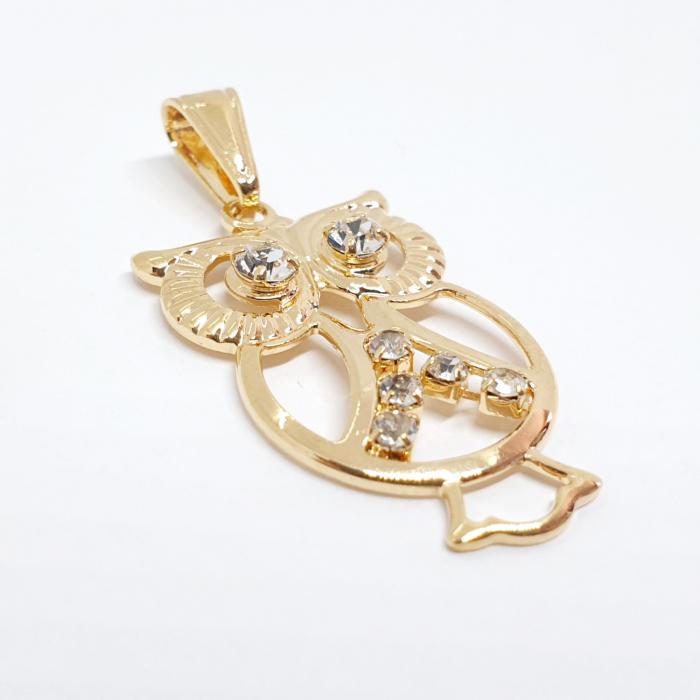 Pandantiv-bufnita placat cu aur Unissima [1]