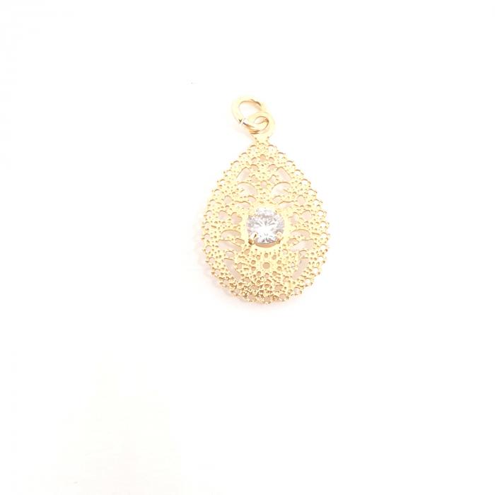 Pandantiv placat cu aur Hestia [0]