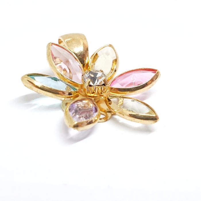 Pandantiv-floare placat cu aur Bloom [1]