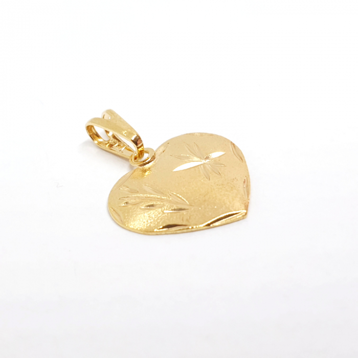 Pandantiv-inimioara placat cu aur JFK [1]