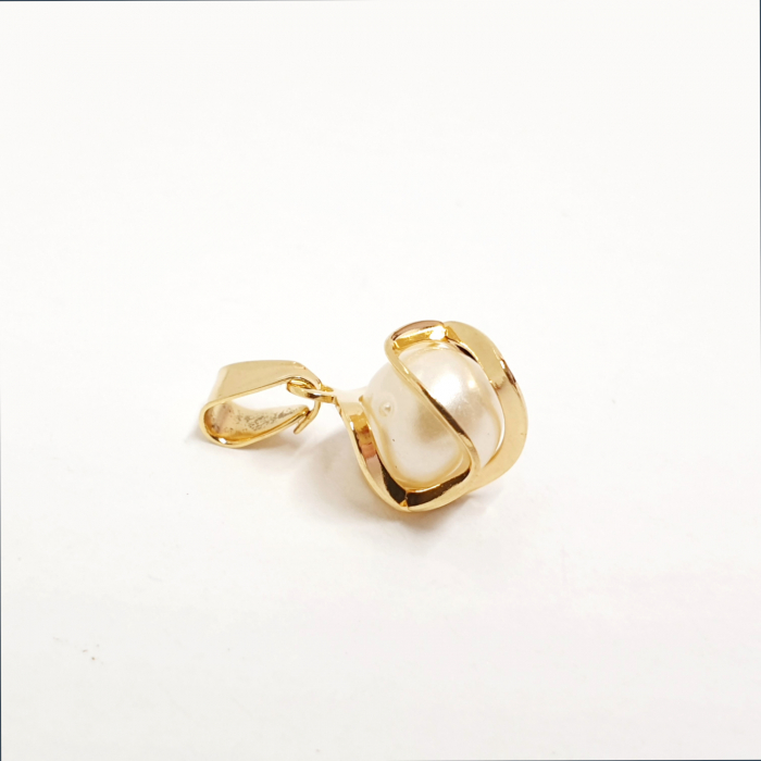 Pandantiv cu perla placat cu aur Honey [1]