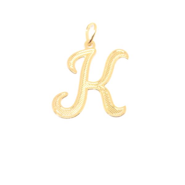 Pandantiv stilizat placat cu aur litera K edenboutique imagine 2021