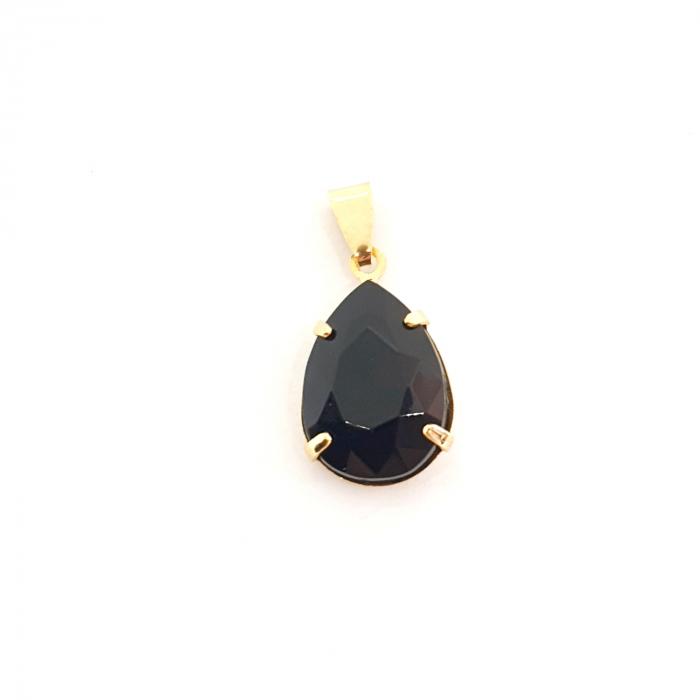 Pandantiv negru-abanos placat cu aur Donna [0]