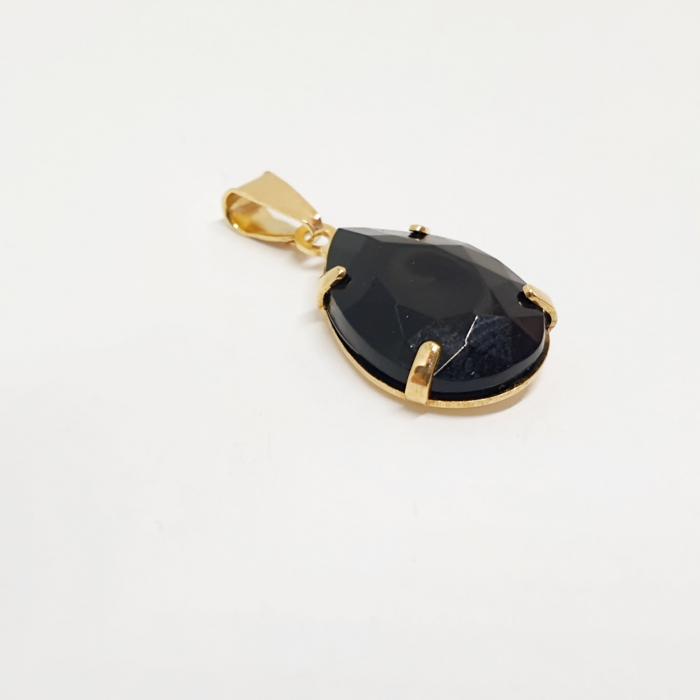 Pandantiv negru-abanos placat cu aur Donna [1]