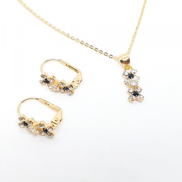 Set bijuterii placate cu aur SaraTremo [3]