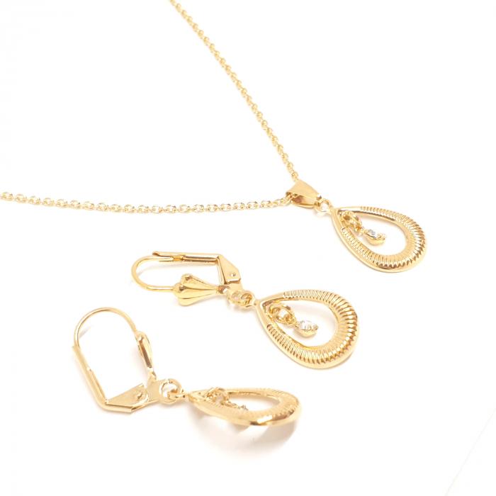Set bijuterii placate cu aur SaraTremo [5]